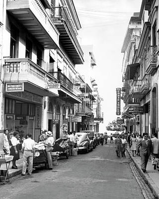 Puerto Rico Street Scene Poster by Underwood Archives