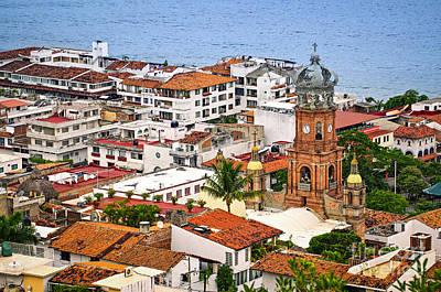 Puerto Vallarta Rooftops Poster