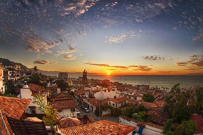 Puerto Vallarta Sunset Poster