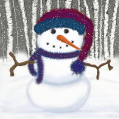 Puffy The Snowman Poster by Michelle Brenmark