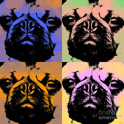 Pug Pop Art Poster by Jean luc Comperat