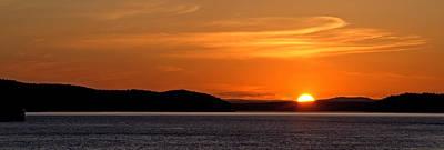 Puget Sound Sunset - Washington Poster