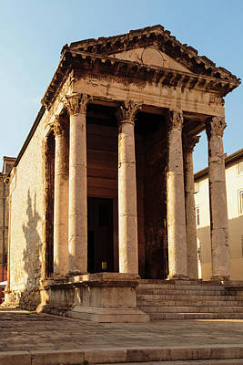 Pula, Istria County, Croatia. Roman Poster