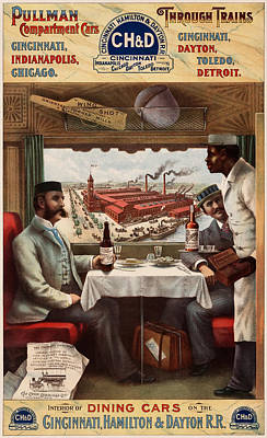 Pullman Compartment Cars Poster
