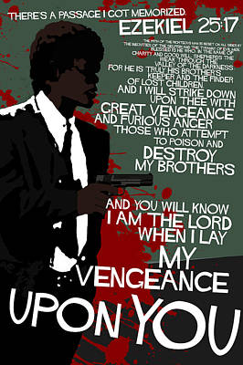 Pulp Fiction Movie-quote-with-a-gun Poster by Edgar Ascensao