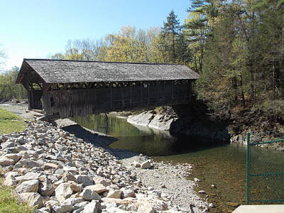 Pumping Station Covered Bridge Poster