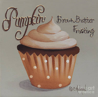Pumpkin Brown Butter Frosting Cupcake Poster by Catherine Holman