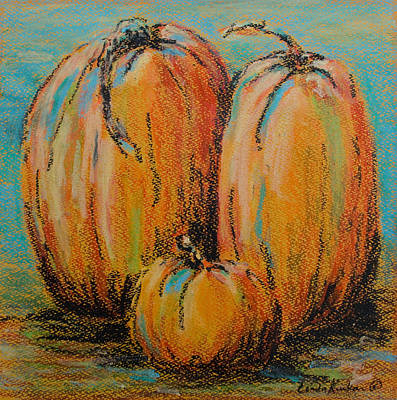 Pumpkin Family Poster by Linda Krukar