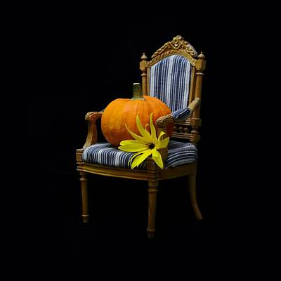 Pumpkin On A Chair Poster by Gynt