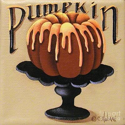 Pumpkin Spice Cake Poster by Catherine Holman