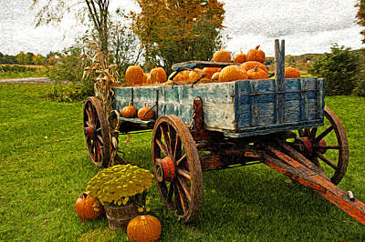 Poster featuring the photograph Pumpkins by Bill Howard