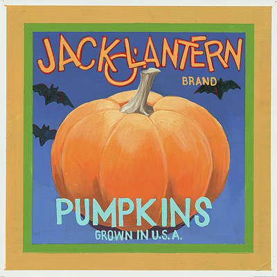 Pumpkins Poster by Wild Apple Graphics