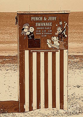 Punch And Judy In Sepia Poster by Linsey Williams