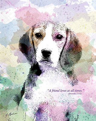 Puppy Love Poster by Gary Bodnar