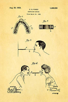Purdy Excercising Device Patent Art 1923 Poster by Ian Monk