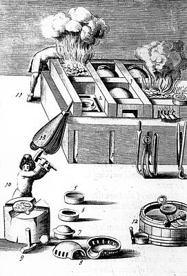 Purification Of Silver In A Furnace Poster by Universal History Archive/uig