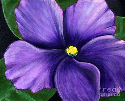 Poster featuring the painting Purple African Violet by Barbara Griffin