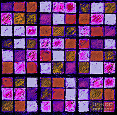 Purple And Orange Sudoku Poster