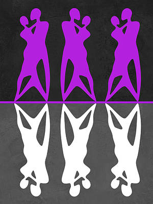 Purple And White Dance Poster