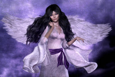 Purple Angel Poster