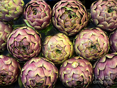 Purple Artichokes Closeup Poster by Frank Bach