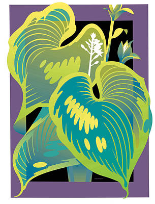 Purple-black Hosta Poster