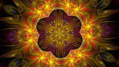 Purple Bliss Kaleidoscope Poster