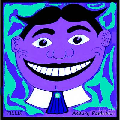 Purple Blue 1960s Tillie Poster