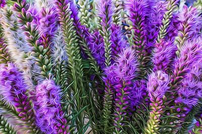 Purple Bouquet Poster by Jeff Swanson