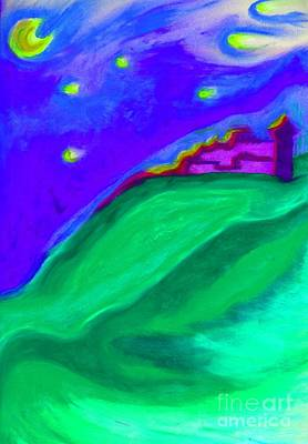 Poster featuring the painting Purple Castle By Jrr by First Star Art