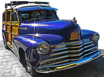 Purple Chevrolet Woody Poster