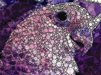 Purple Cockatoo Poster