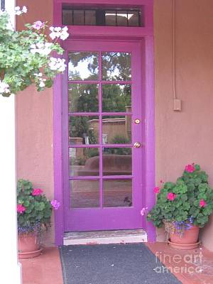 Poster featuring the photograph Purple Door by Dora Sofia Caputo Photographic Art and Design