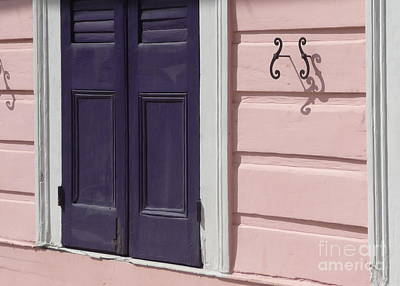 Poster featuring the photograph Purple Door by Valerie Reeves