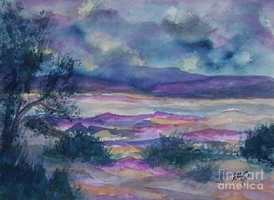 Purple Dusk Settles On The Painted Desert Poster by Ellen Levinson