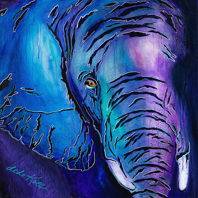 Purple Elephant Poster