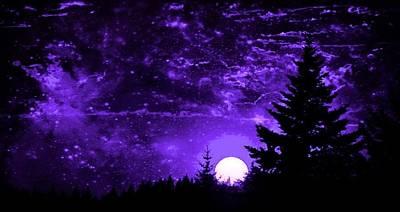 Purple Fantasy Sunset Poster