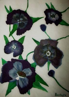 Purple Floral Burst Poster