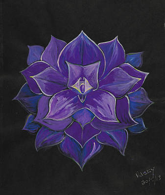 Purple Flower - Painting Poster