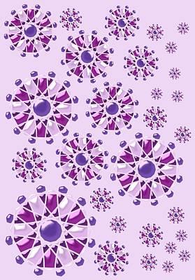 Purple Gems Poster by Anastasiya Malakhova