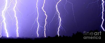 Purple Rain Lightning Poster