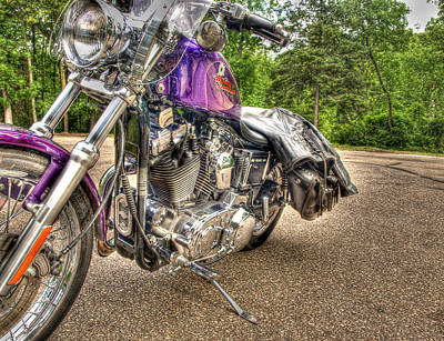 Purple Harley Poster
