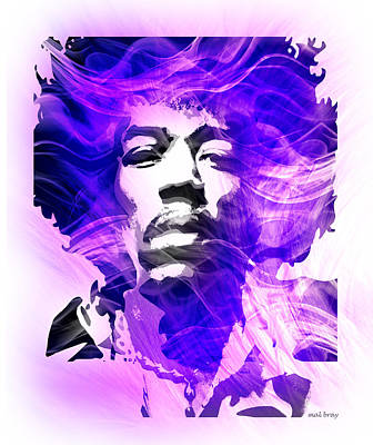Purple Haze Poster by Mal Bray