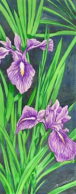 Purple Iris Poster by Richard De Wolfe