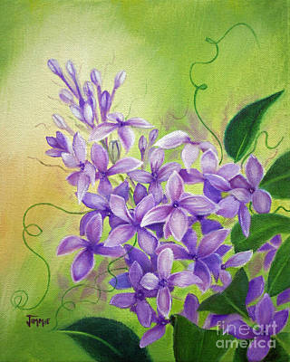 Purple Lilacs Poster by Jimmie Bartlett