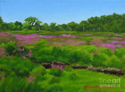 Purple Loosestrife Medfield Ma Poster by Rosemarie Morelli