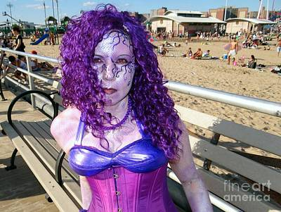 Poster featuring the photograph Purple Mermaid by Ed Weidman
