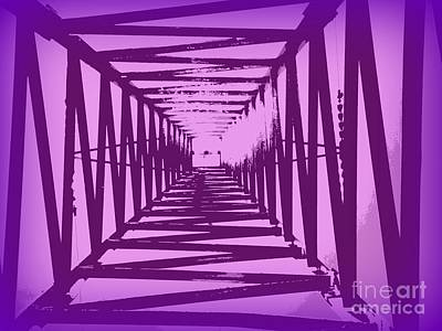 Purple Perspective Poster by Clare Bevan