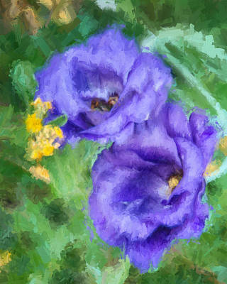 Poster featuring the painting Purple Petals by Ike Krieger