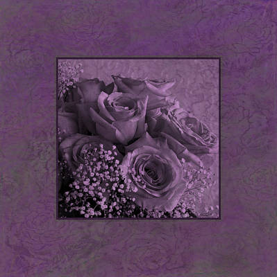 Poster featuring the photograph Purple Roses Delight by Sandra Foster
